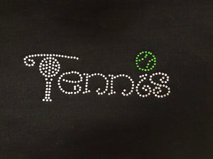 Tennis Iron On Rhinestone Decal