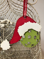 Pickleball Santa Ornament