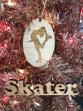Wooden Skater Ornament