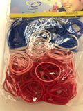 Tiny hair elastics -Pack