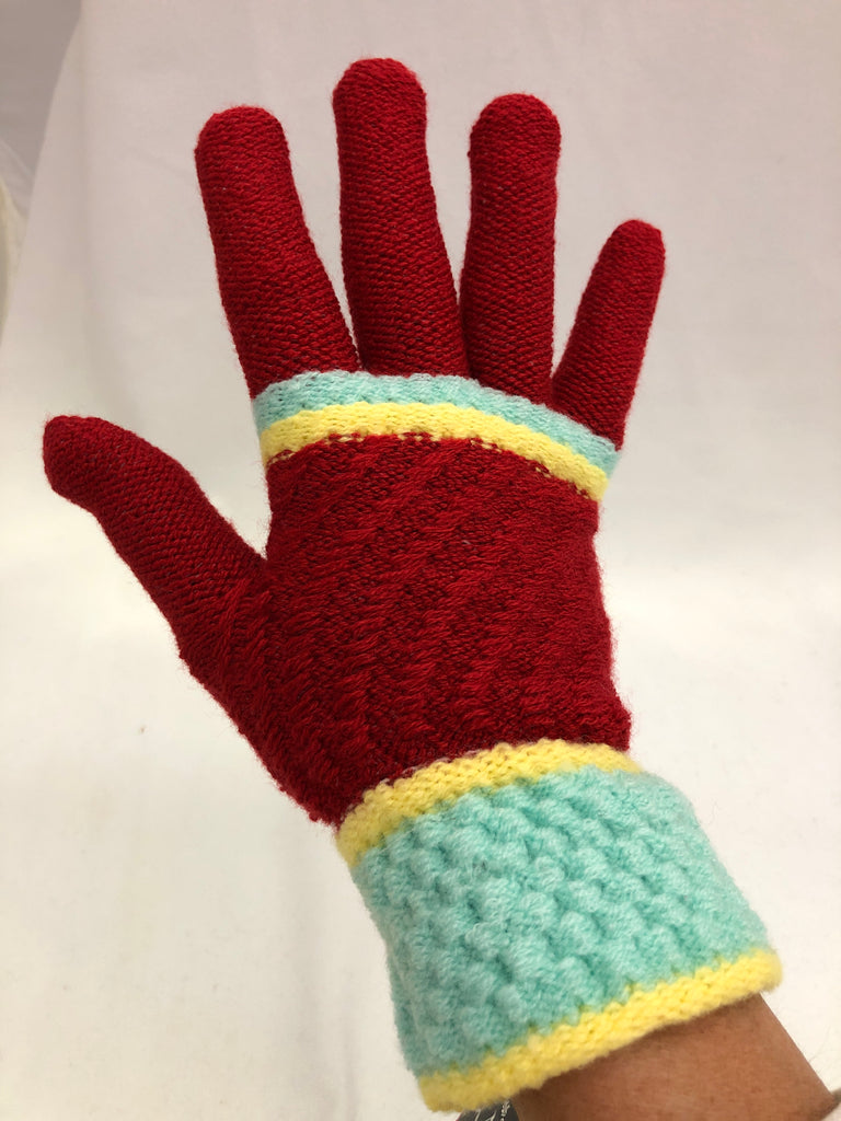 Multi Color Adult Stripe Gloves