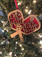 Deck the Halls Pickleball Ornament