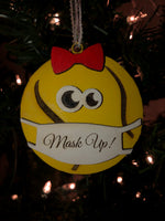 Handmade Tennis Mask Ornament