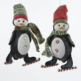 Skating Penguin Ornament