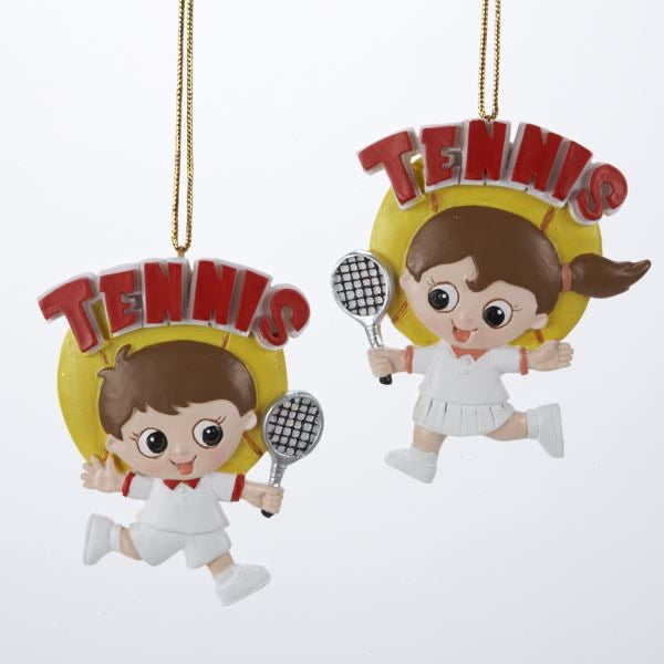 Tennis Boy or Girl Ornamant