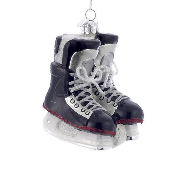 Noble Gems™ Ice Hockey Skates Glass Ornament NB0564