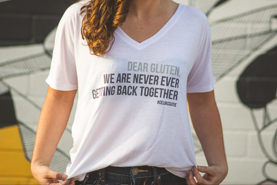 Dear Gluten V-Neck Shirt