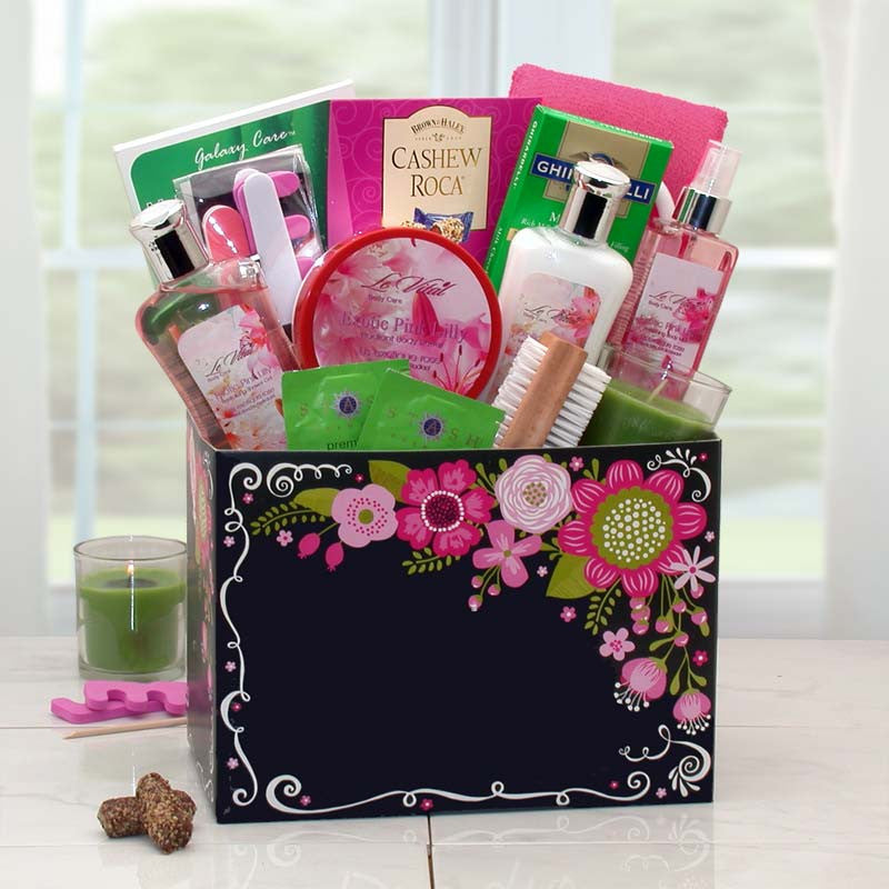 Exotic Getaway Spa Gift Box w/ Exotic Florals