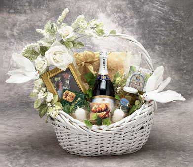 Wedding Wishes Gift Basket Lg,