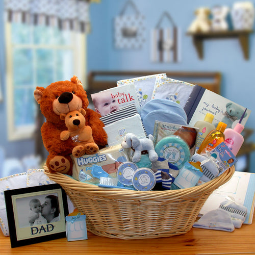 Deluxe Welcome Home Precious Baby Basket-Blue
