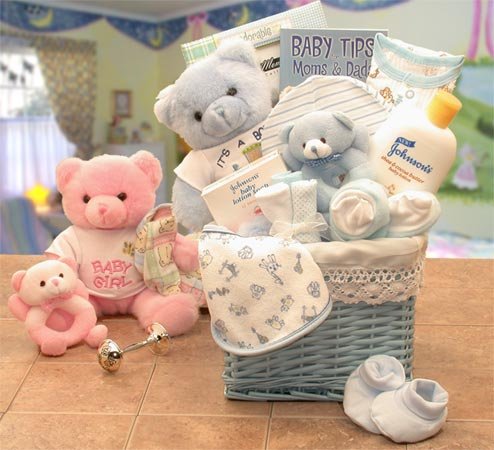 Sweet Baby of Mine Baby New Baby Basket -Blue/Pink