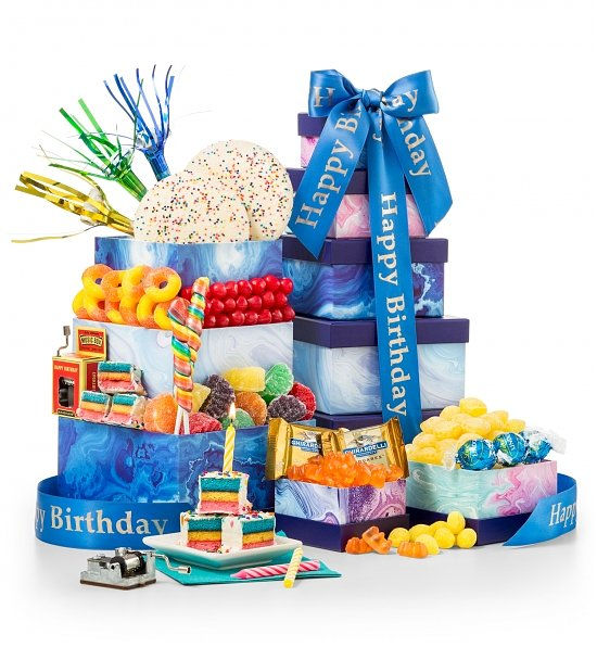 Birthday Bliss Gourmet Gift Tower