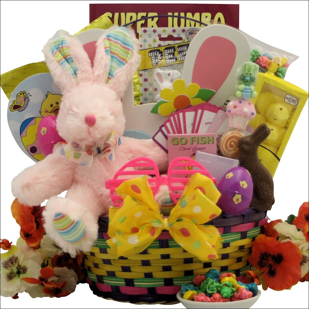 Hoppin' Easter Fun-Girl Easter Basket Ages 3 to 5 Years Old