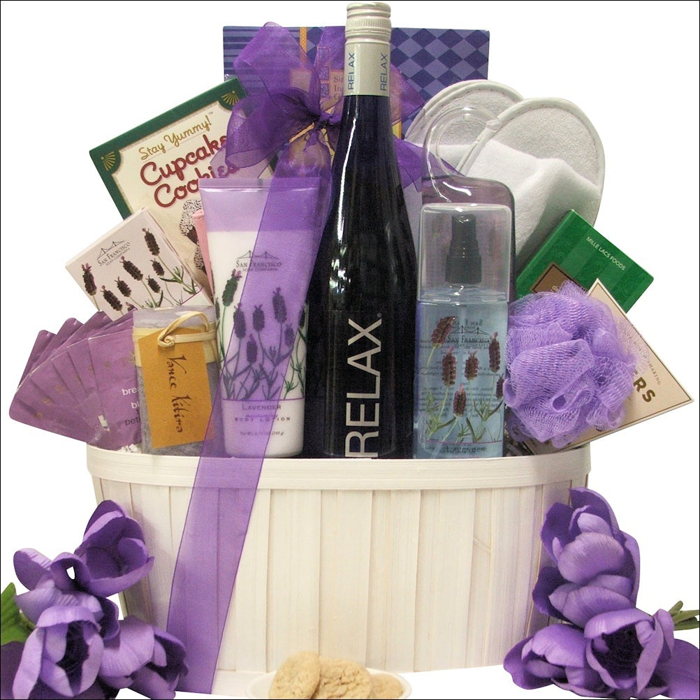 Relax Riesling Wine & Spa Gift Basket