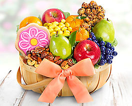Deluxe Fruit and Sweets Gift Basket