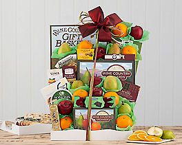Deluxe Fruit and Favorites Gift Basket