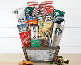 Starbucks Coffee and Teavana Tea Gift Basket