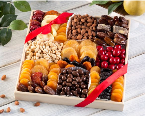 Deluxe Dried Fruit Nuts and Sweets Tray
