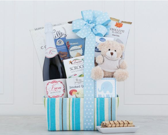 It's a Boy Sparkling Rose Gift Basket