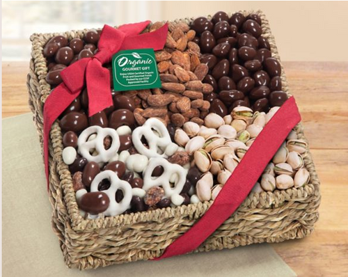 Mendocino Organic Chocolate and Nut Gift Basket