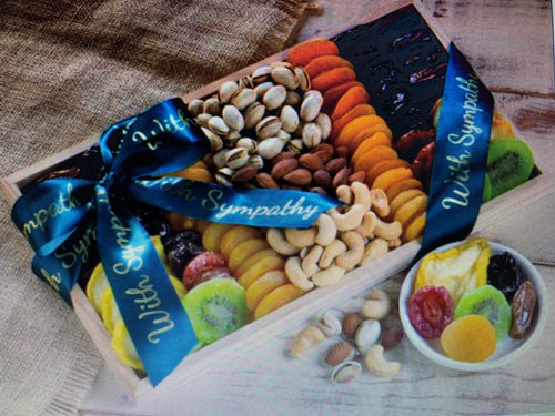 With Sympathy-Dried Fruit and Nut Collection