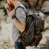 Everywhere Laptop Backpack Charcoal worn