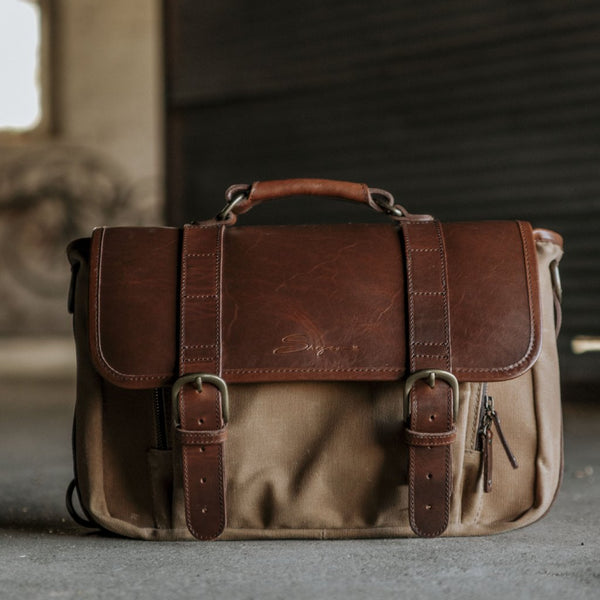 Everyday Carry Laptop Messengenger Bag Tan