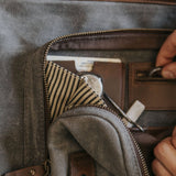 Everday Carry Laptop Messenger Bag Charcoal Front pocket organizer detail