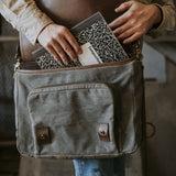 Everyday Carry Laptop Messenger Bag Charcoal Open