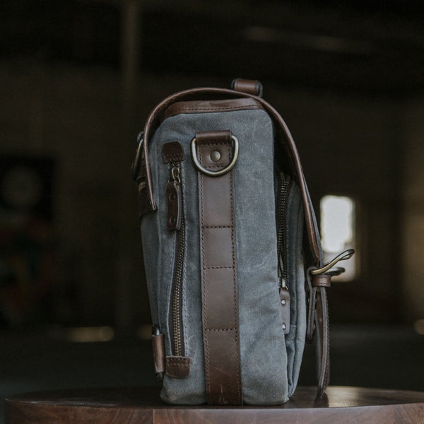 Everyday Carry Laptop Messengenger Bag in Charcoal side view