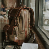 Everywhere Laptop Backpack tan 3/4 view