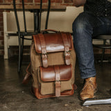 Everywhere Laptop Backpack Tan Front