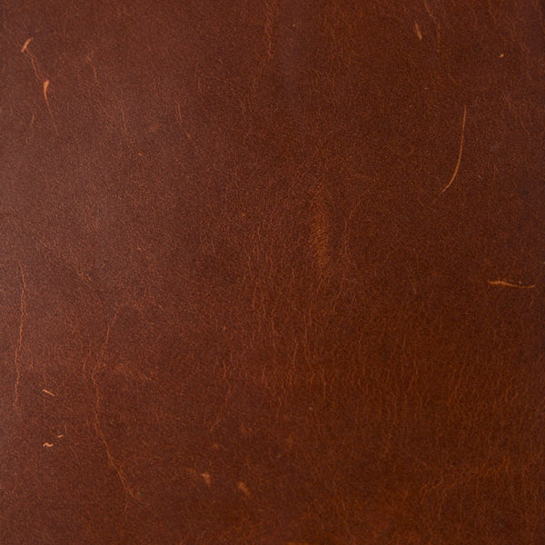 Full Grain Leather Swatch in Mahogany