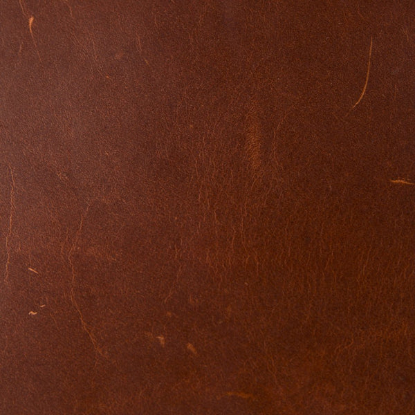 Full Grain Leather Swatch in Mahogany Surgeon