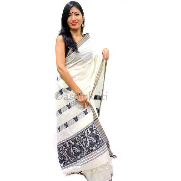 Assam handloom saree in soft cotton