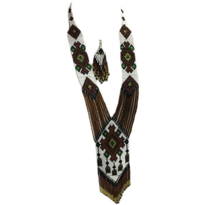 Handcrafted Tribal Naga Necklace and earring set made of premium beads