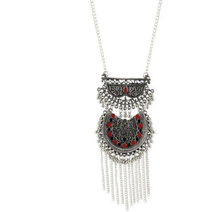 Gorgeous oxidised silver necklace perfect for a party wear