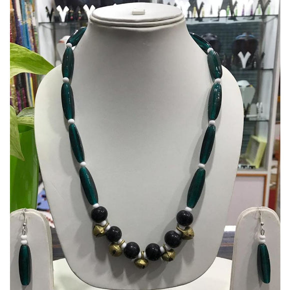 Black colored tribal Naga Necklace made of premium beads