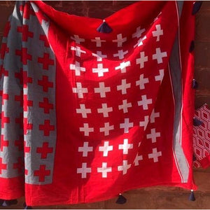 Red grey soft mulmul cotton saree for a comfort wear
