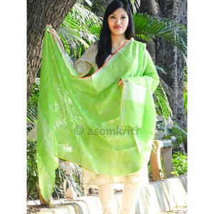 Heena green linen Dupatta which suits both as ethnic and western wear