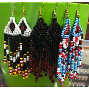 Gorgeous handmade Tribal Naga Earrings made of premium beads