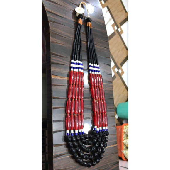 Multi-colored Tribal Naga Necklace made of high quality Beads