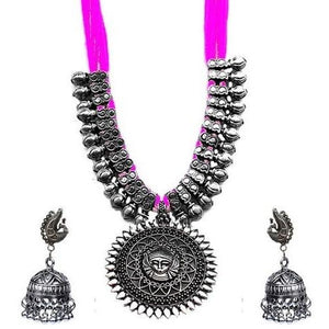 Heavy German silver necklace and earrings set