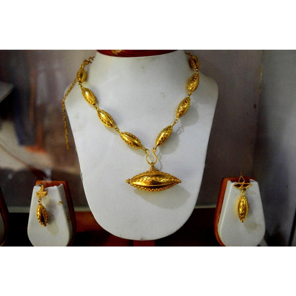 Silikha design pure silver and gold plated Assamese jewellery