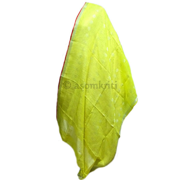 Yellow colored linen Dupatta which suits both as ethnic and western wear