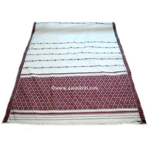 Assamese mercerised cotton handwoven saree with premium quality thread count