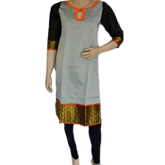 Multicolored Assamese weave design handwoven cotton kurti