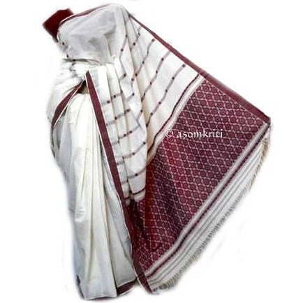 Assamese kosa handwoven saree with premium quality thread count