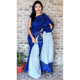 Half and half Bengal khesh cotton soft cotton saree with Pali laguage (Click for more color options)