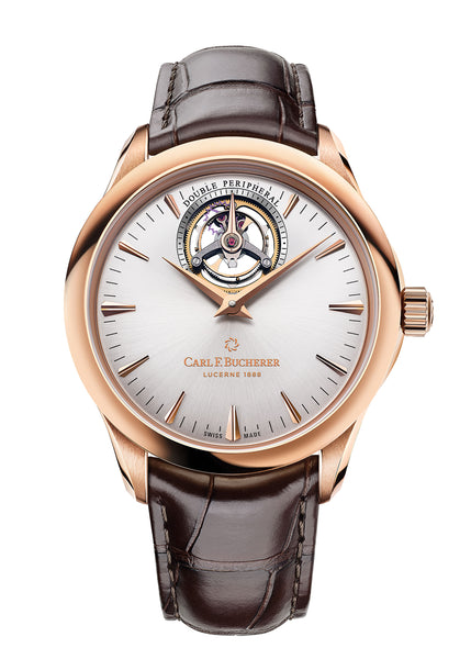 Carl F. Bucherer Manero Tourbillon Double Peripheral 18k rose gold 43.1mm - The Luxury Well